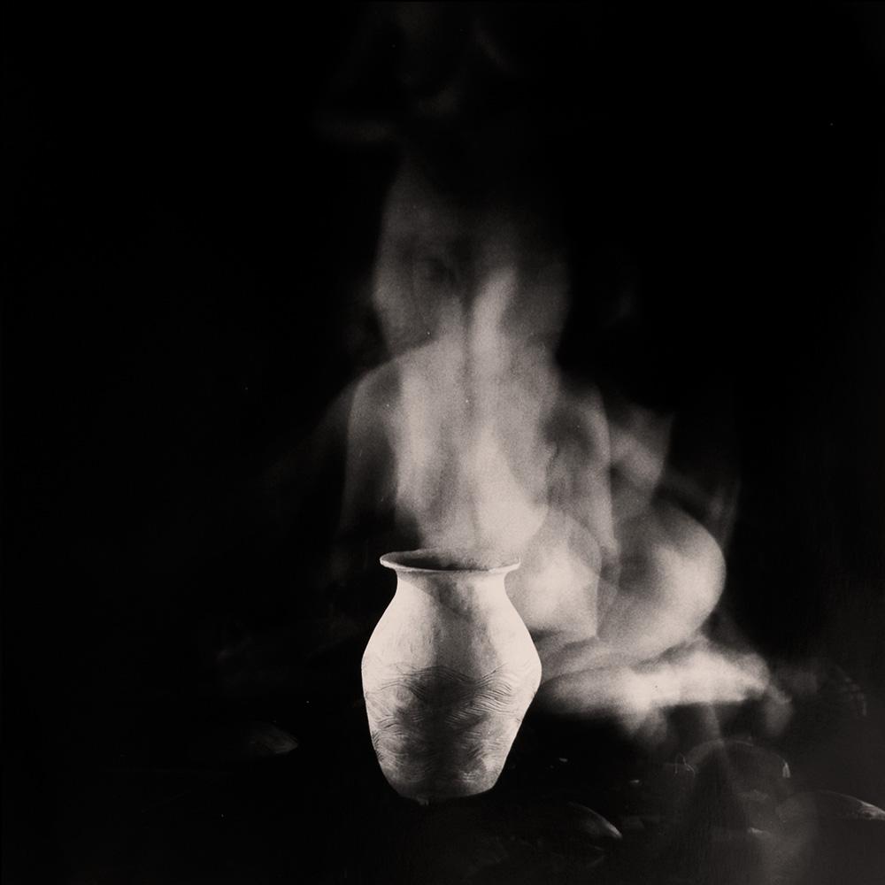 Carla Janse van Rensburg Untitled (12 minute exposure of Water Vase Ritual) 2018 Handprinted Film Photograph on Archival Fibre Paper, 1of3 38.5 x 38.6 cm