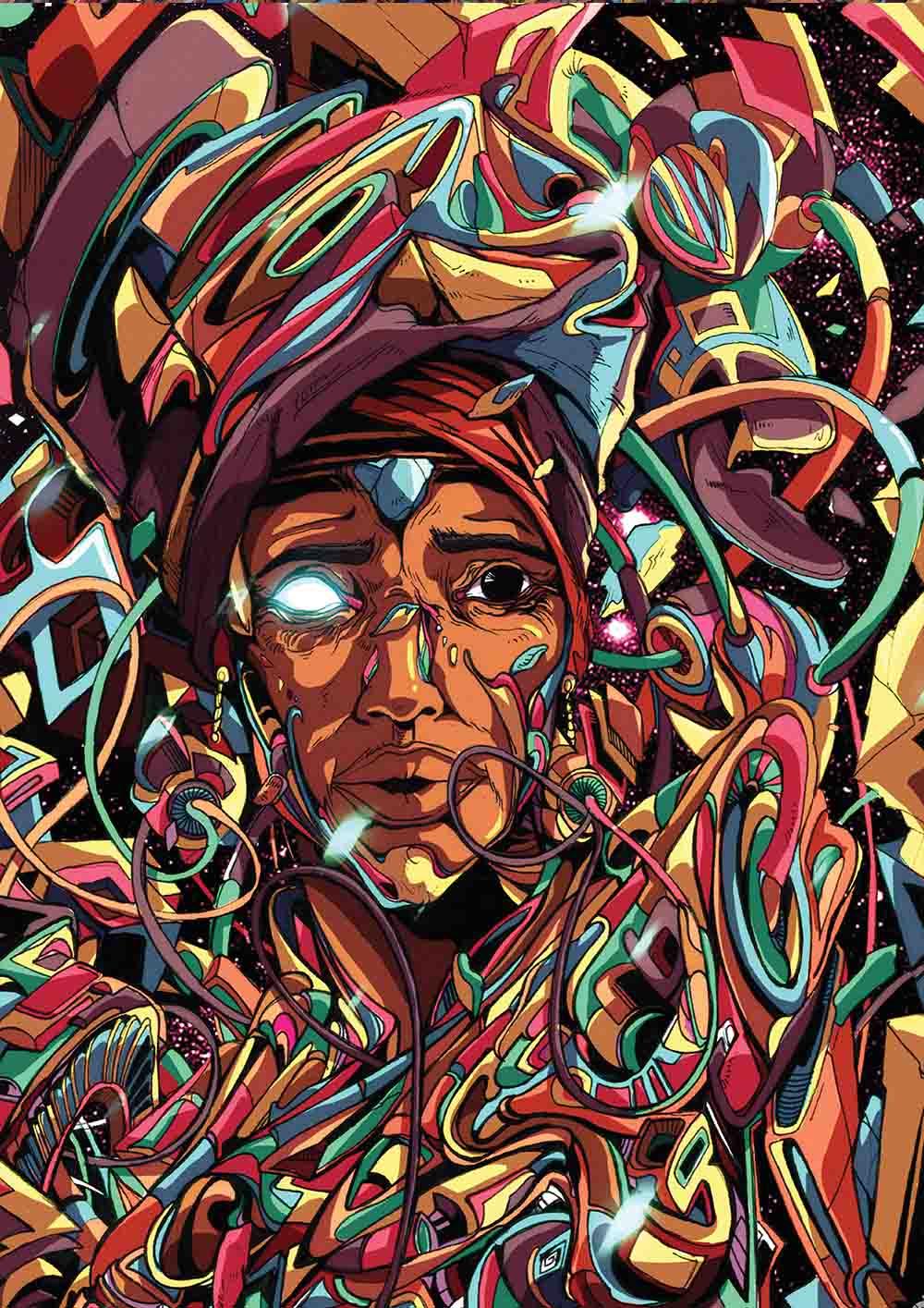 Anda Mncayi, Dreaming-Awake, 2017. A2 Inkjet, True Fibre