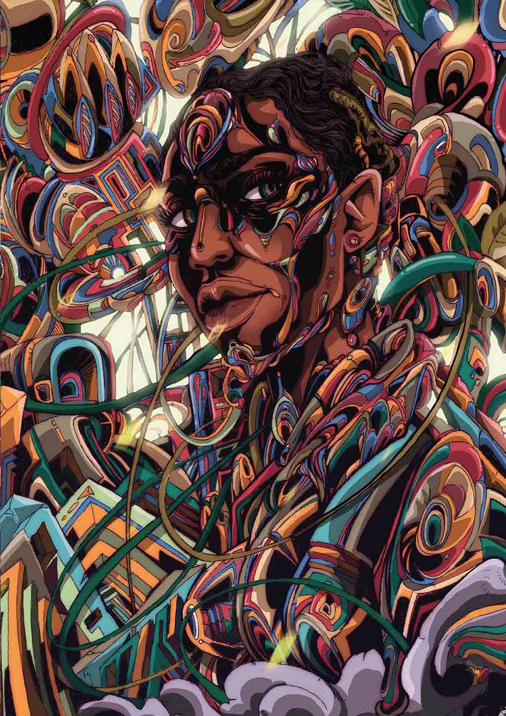 Anda Mncayi, Dreaming-Awake - Awake, 2017. A2 Inkjet, True Fibre