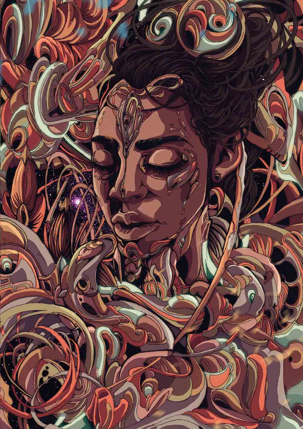 Anda Mncayi, Dreaming-Awake - Quintessence, 2017. A2 Inkjet, True Fibre