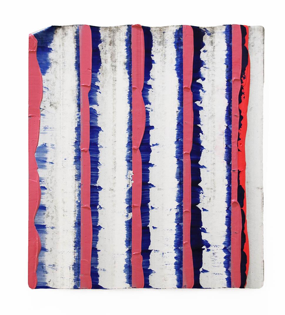 Christian F Kintz, 2019, acrylic on corrugated iron, 40 x 35 cm (4of9)