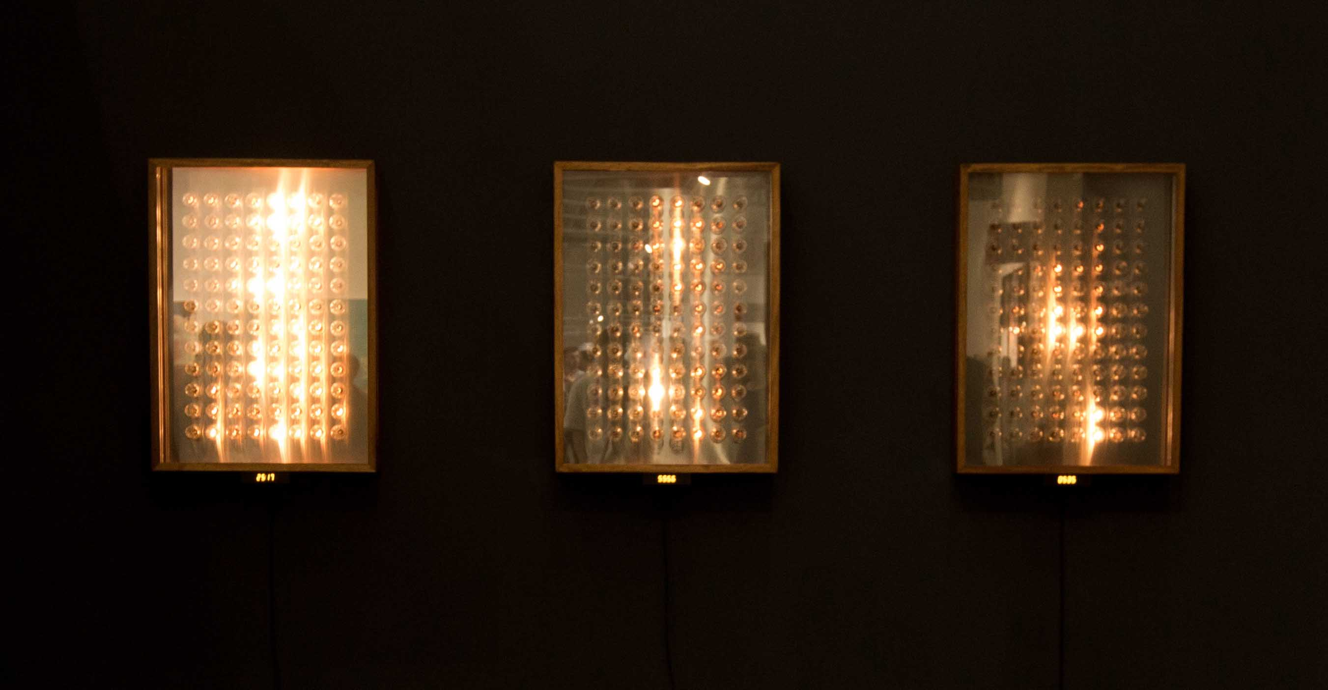 Kyu Sang Lee & Martin Wilson The Sound of Light 2019 Mixed media installation 88.5 x 64.5 x 13 cm(each)