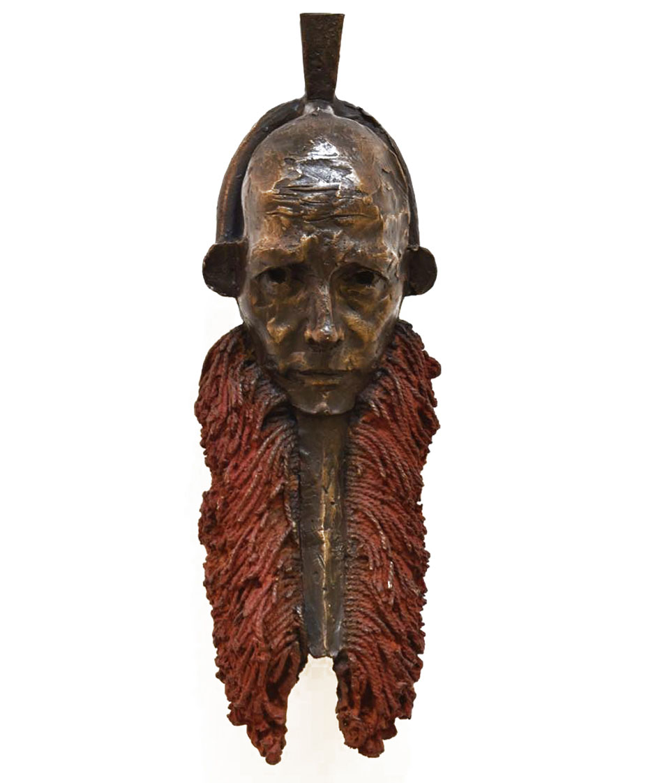 Cobus Haubt Vono Giwoyo Mask 2019 Bronze, 1of7 15 x 43 x 13 cm