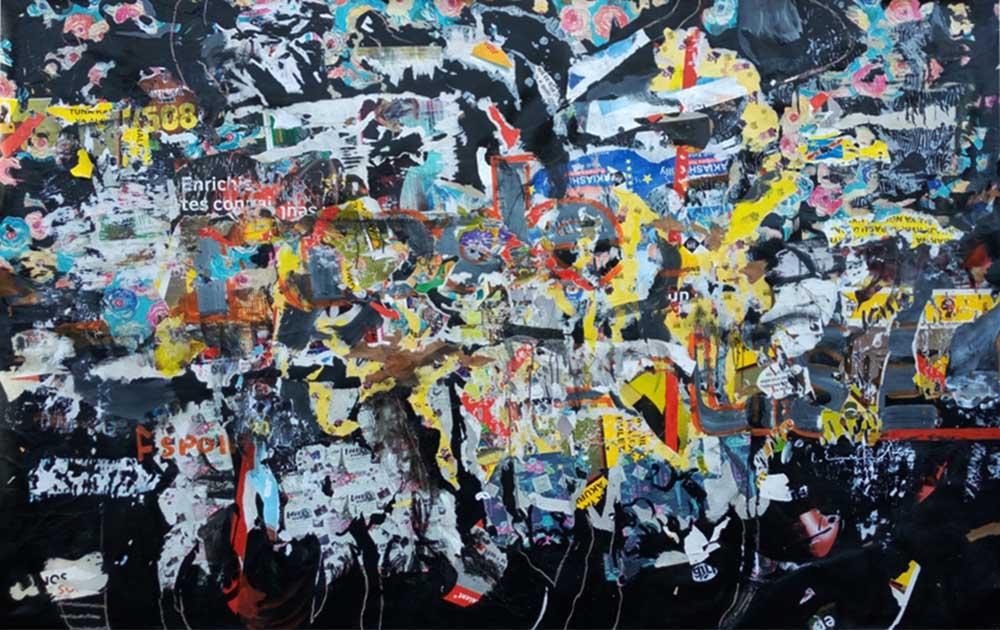 Bouvy Enkobo Foutoir 2019 Mixed media on Board 160 x 260 cm