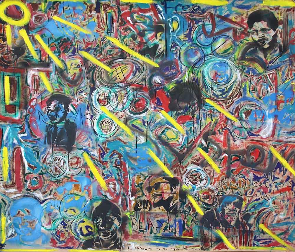 Gulwa Lindisipho Langelihle 2019 mixed media on cardboard approx 152 x 108 cm