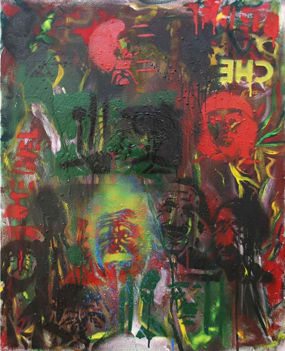 Gulwa Lindisipho They Rebel Tonight I 2019 mixed media on canvas 61 x 76 cm