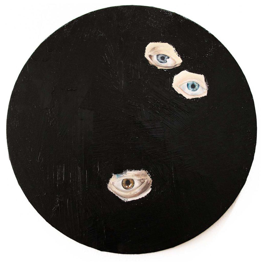 Chelsea Peter Shrouded II 2019 mixed media installation 40 cm in diameter