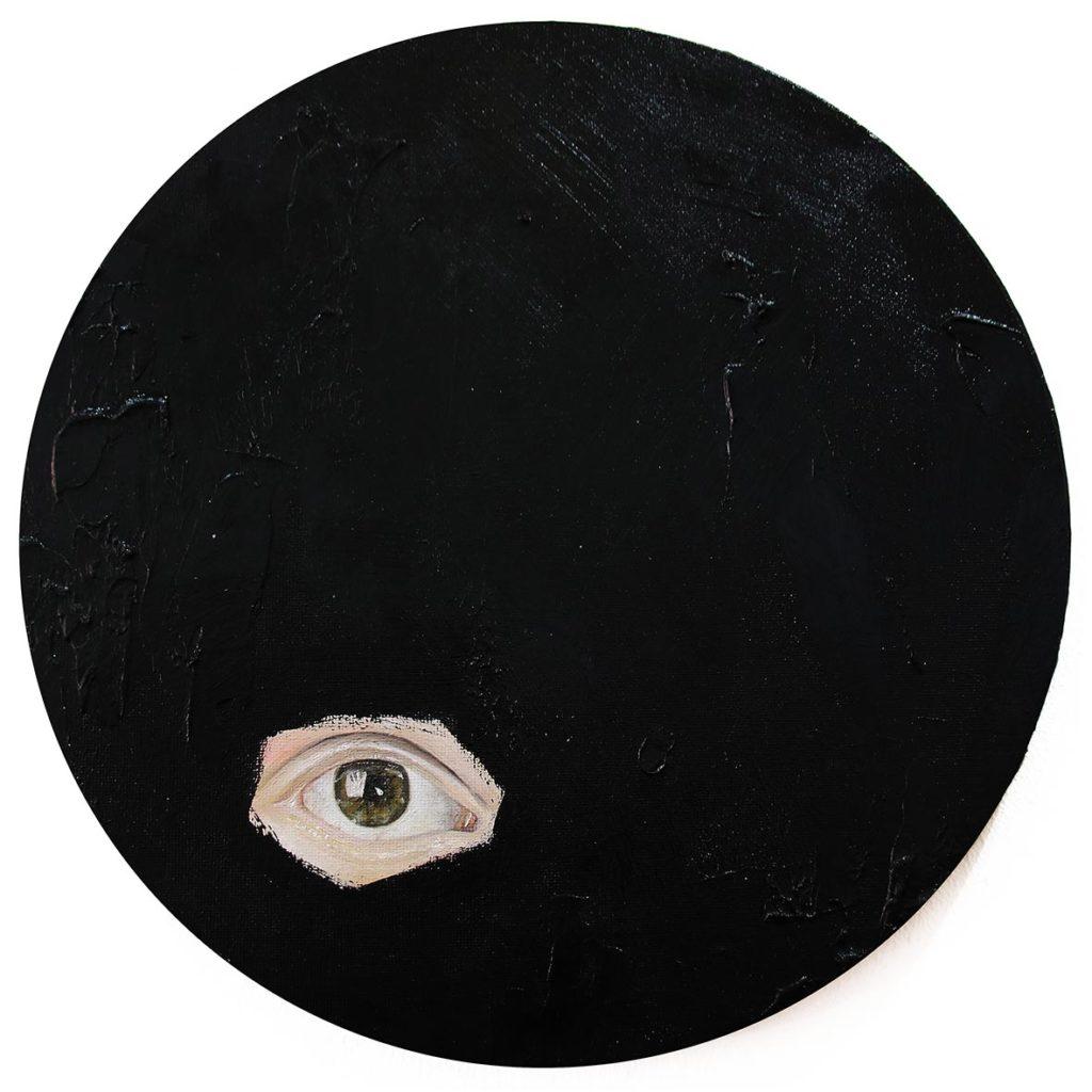Chelsea Peter Shrouded III 2019 mixed media installation 29.5 cm in diameter