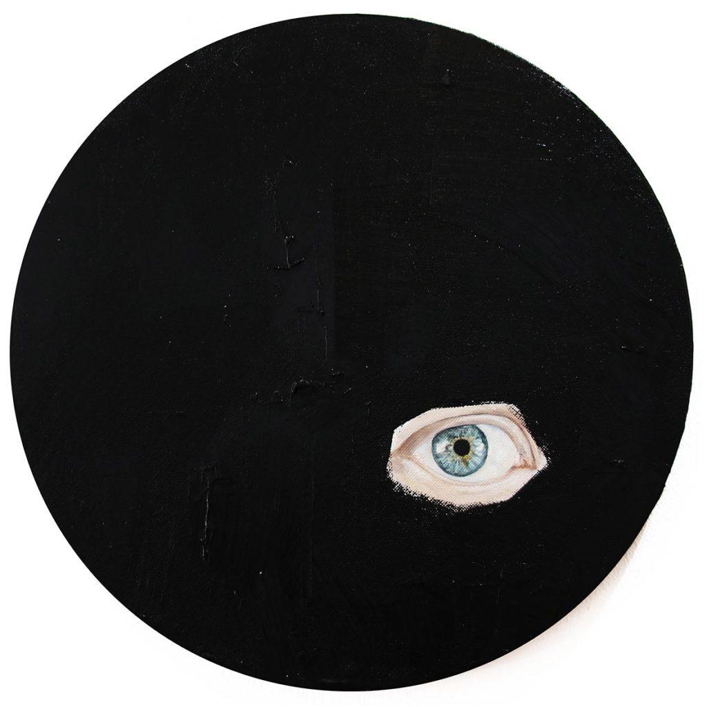 Chelsea Peter Shrouded IV 2019 mixed media installation 29.5 cm in diameter