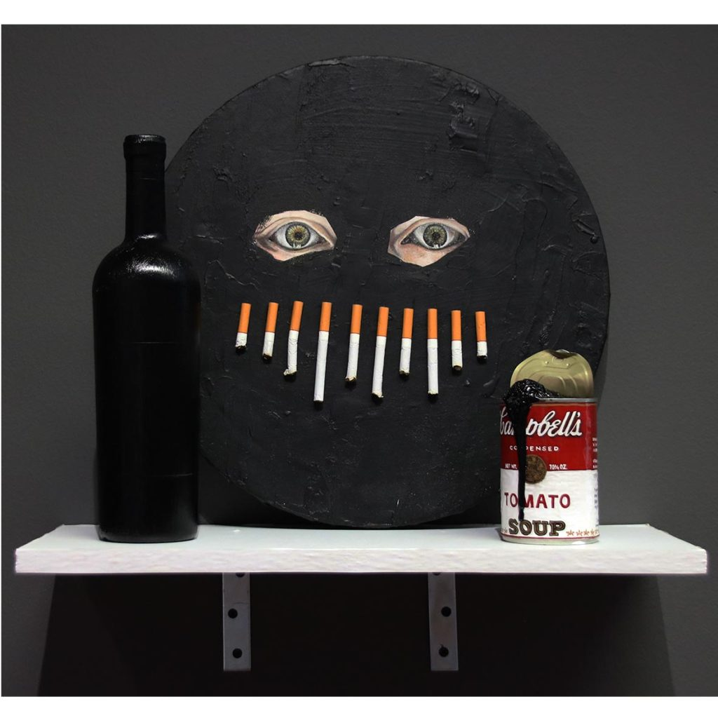Chelsea Peter Shrouded, Still Hungry? & Drink Up 2019 mixed media installation dimensions vary