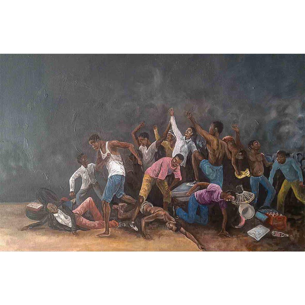 Qhama Maswana New Dawn 2018 Acrylic on canvas 90.2 x 70cm