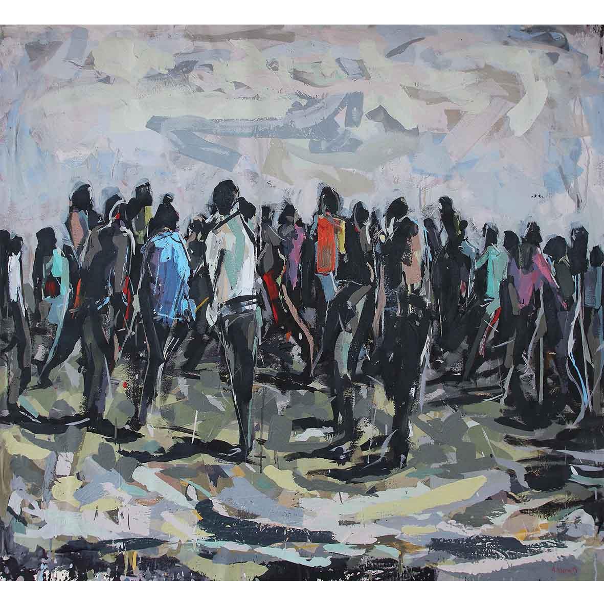 Asanda Kupa Alitshoni unaphakade, , 2019 Acrylic on canvas 145 x 165 cm