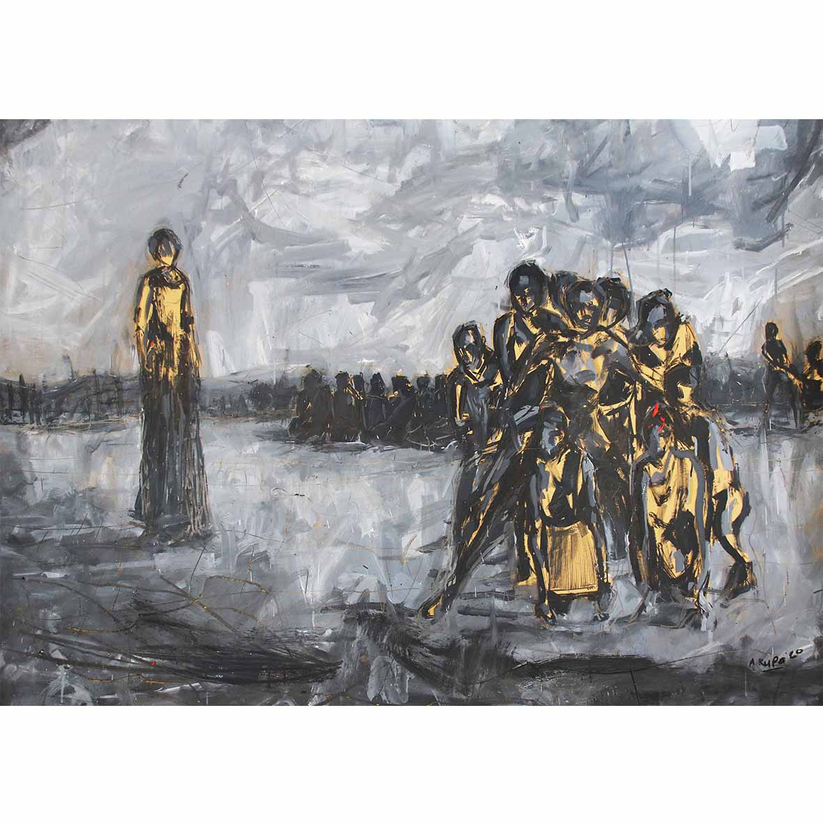 Asanda Kupa Easy said, than lived 2020 Oil on paper 90 x 140 cm