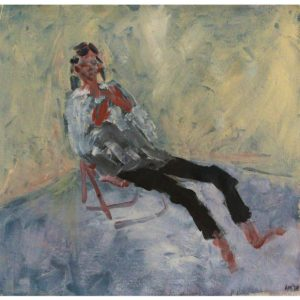 Anico Mostert Quarantine self portrait 2020 Oil on canvas 45 x 43 cm