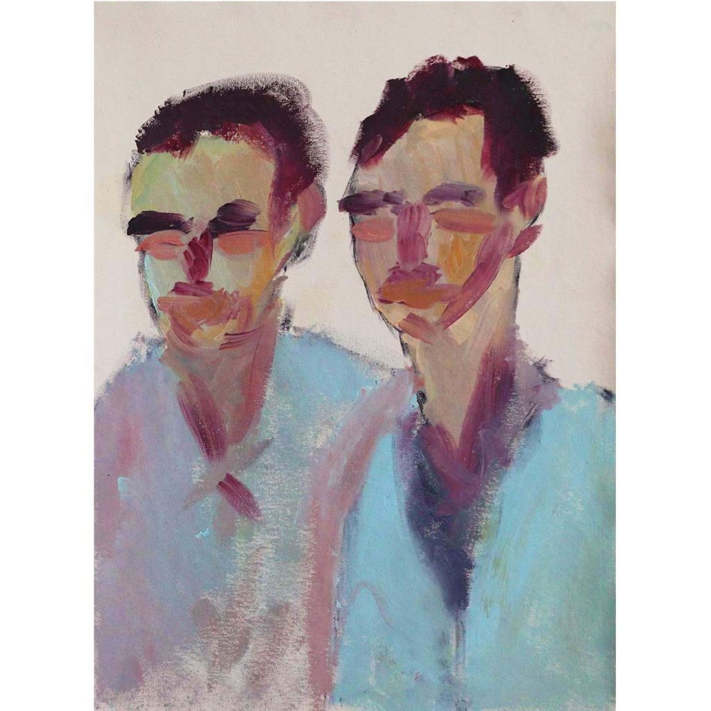 Anico Mostert, Two boys, they could be brothers 2020 Oil on canvas 31.5 x 34.5 cm