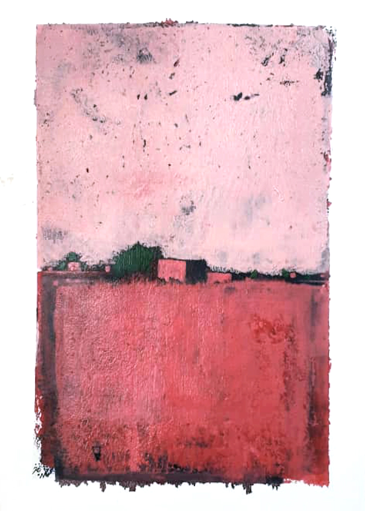 Khalid Abdel Rhaman | Untitled pink | Eclectica contemporary | Art gallery | Cape Town