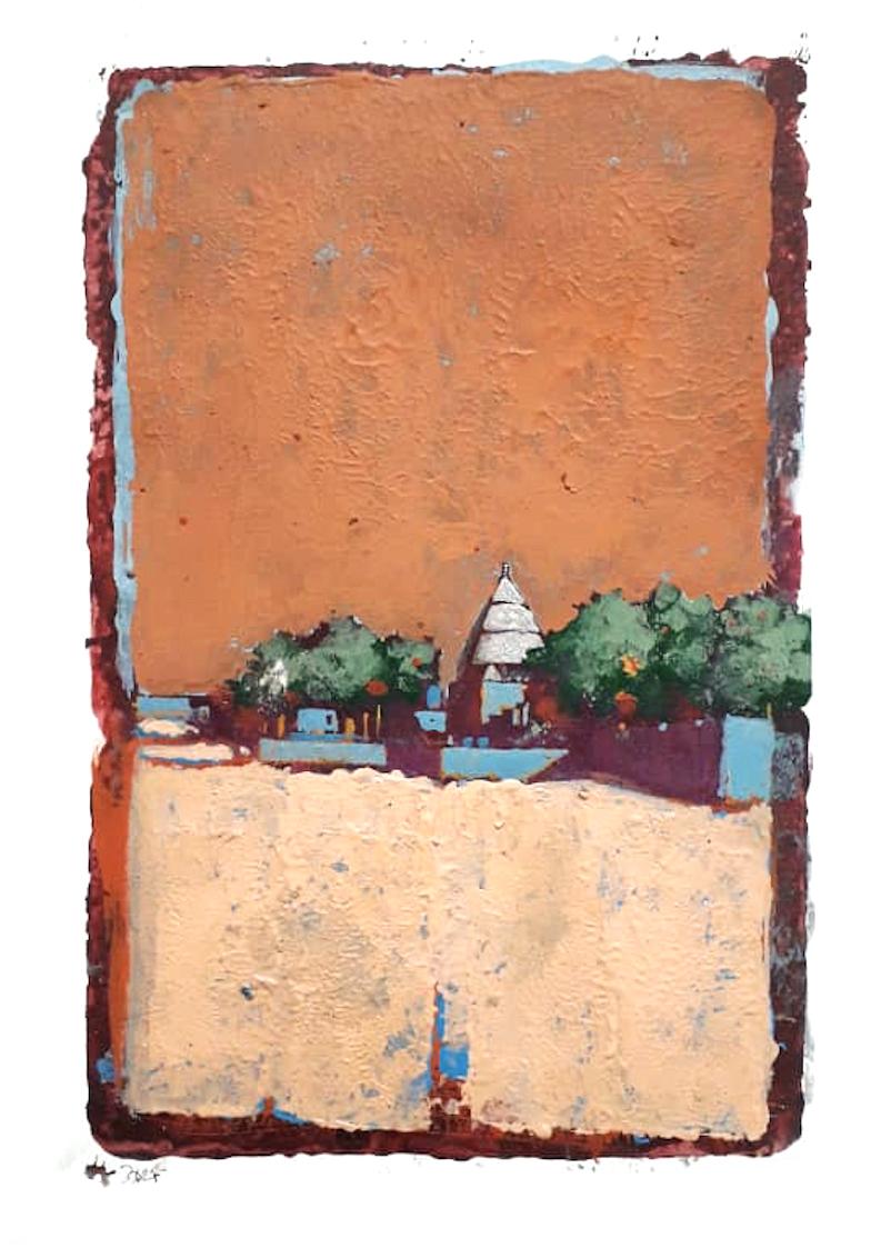 Khalid Abdel Rhaman | Untitled orange | Eclectica contemporary | Art gallery | Cape Town