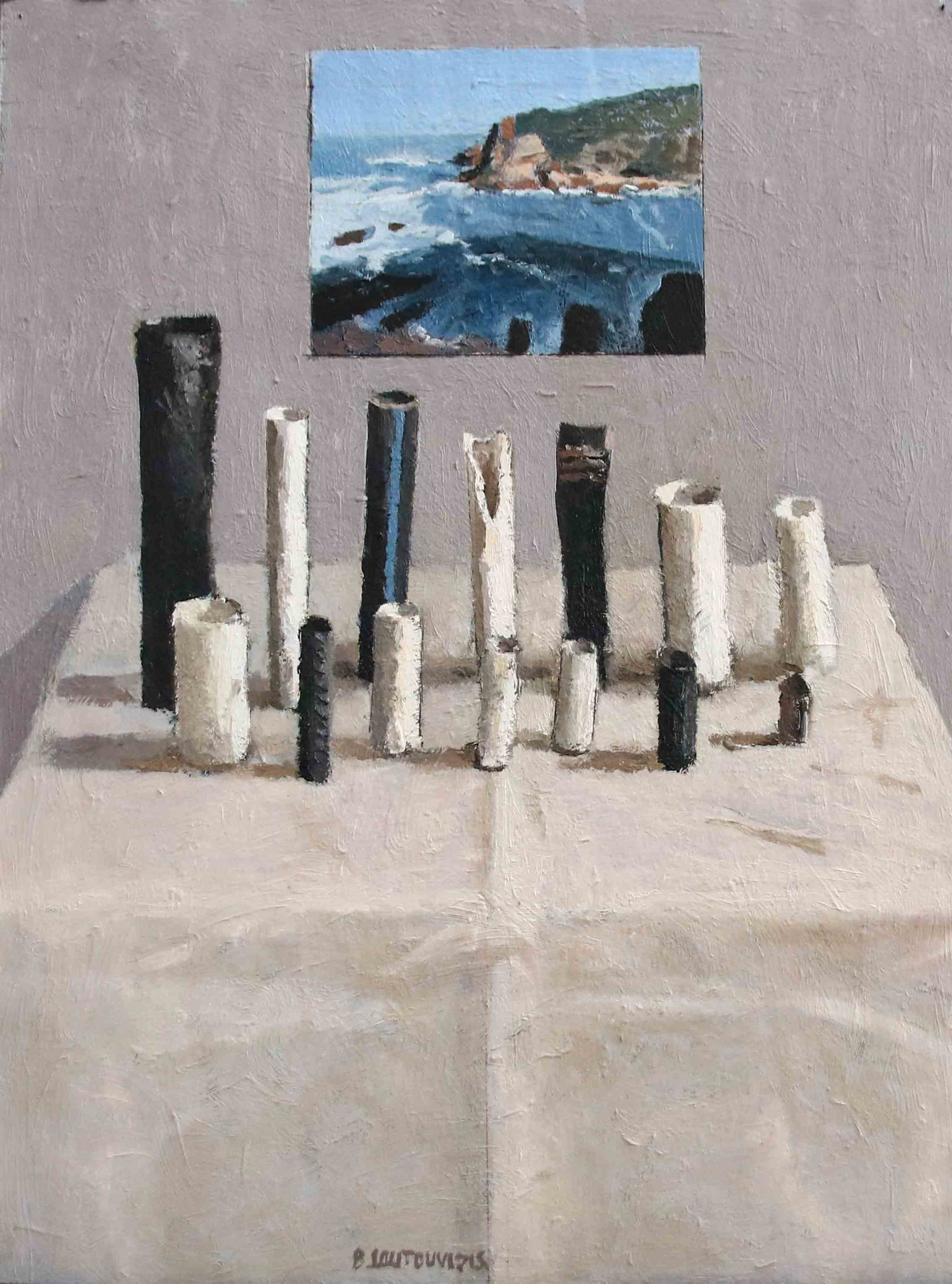 Ben Coutouvidis | Pipes with view of Knysna Heads | 2020 | Eclectica Contemporary | Gallery | Cape Town |