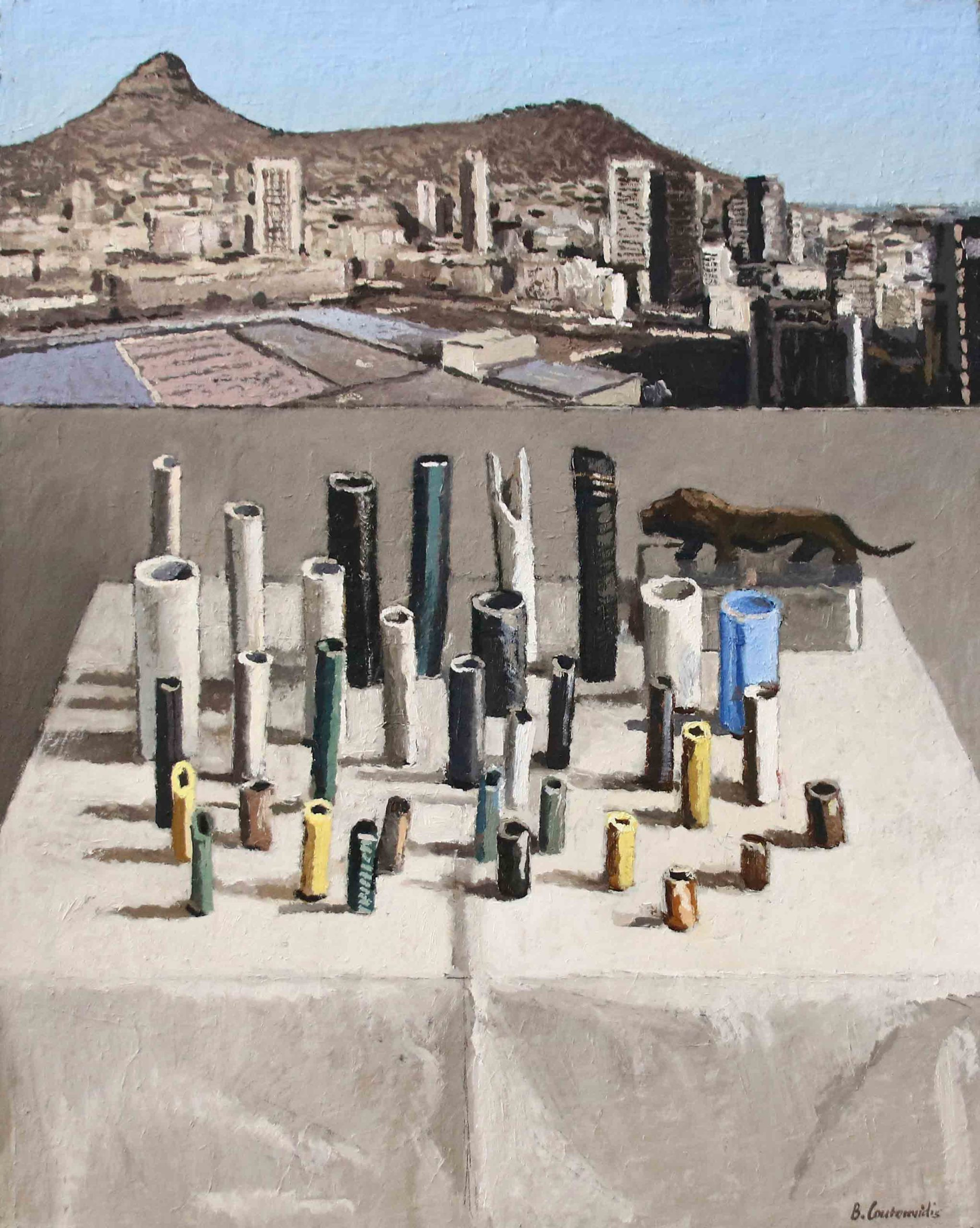 Ben Coutouvidis | Pipes with view of Lions Head | 2020 | Eclectica Contemporary | Gallery | Cape Town |