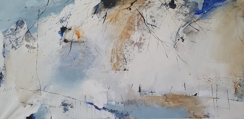 Natasha Barnes | Whispers of beach trees & birds | Eclectica Contemporary | Art Gallery | Cape Town|